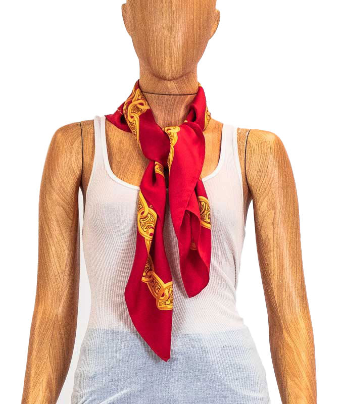 Red Square Scarf