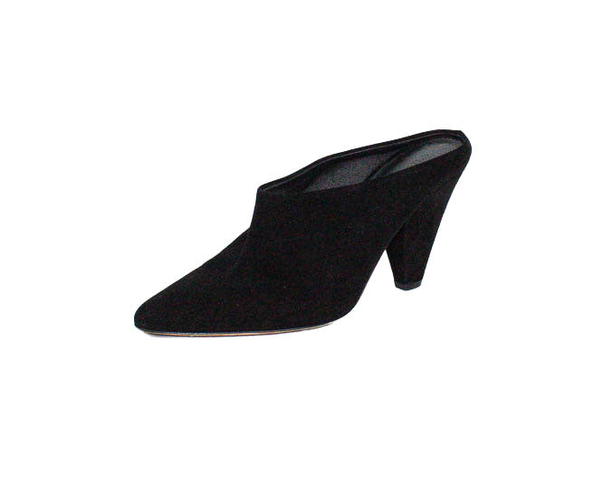 Suede Pointed Toe Mules