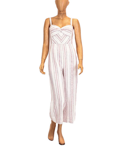 Striped Linen Jumpsuit with Pockets