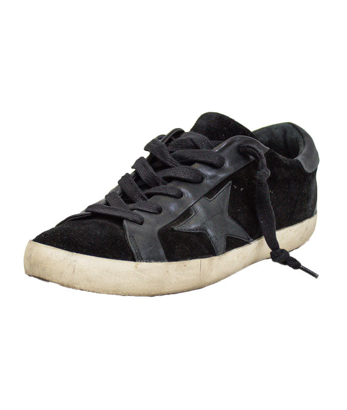 Black Suede Low Top Sneakers