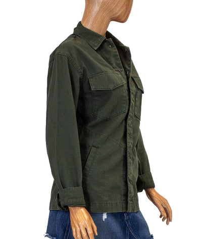 Snap Button Military Jacket