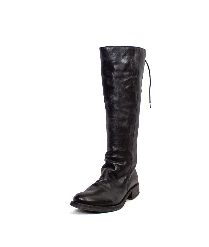 Flat Black Knee Length Boots