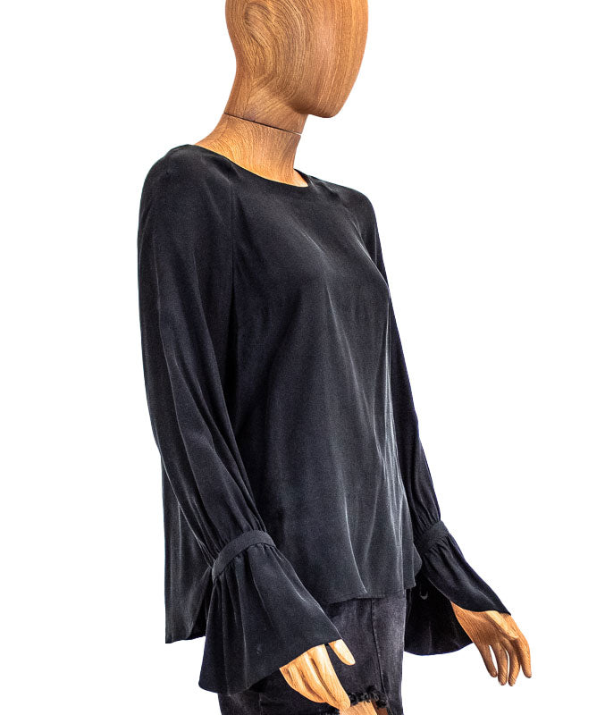 Silk Long Sleeve Blouse