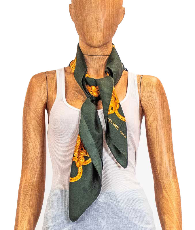 Green Square Scarf