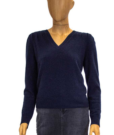 Navy Cashmere Pullover Sweater