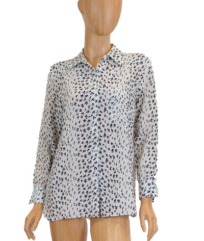Silk Front Pocket Printed Button Down