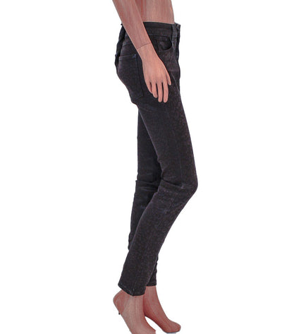 "Mid-Rise ""Alice"" Skinny Jean with Subtle Cheetah Print"