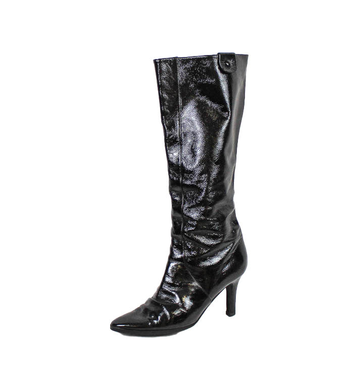 Patent Leather Knee Boot