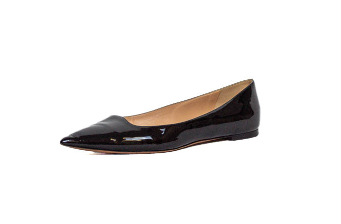Patent Pointed-Toe Ballet Flats