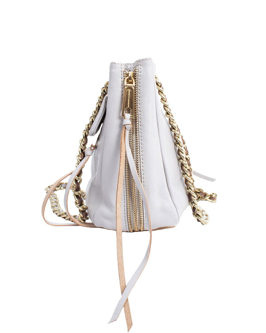 Shoulder Bag With Woven Chain