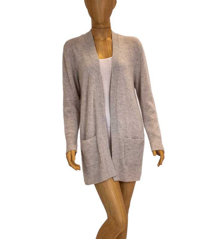 Cream Cashmere Open Front Cardigan