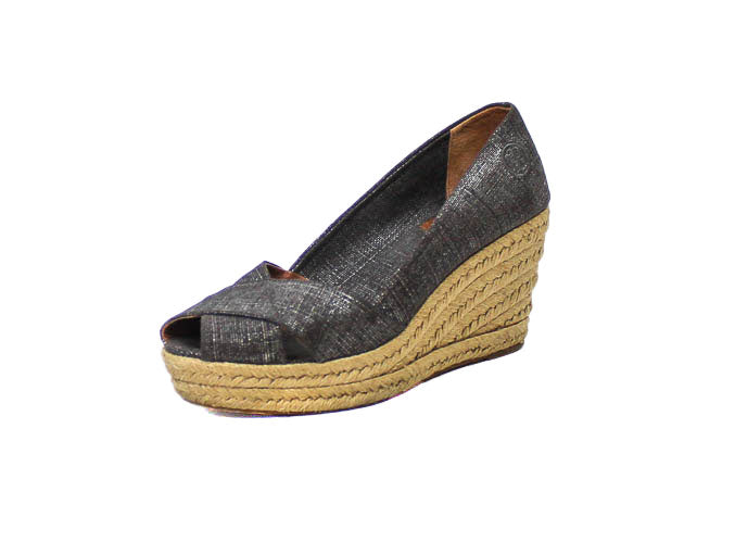 "Metallic ""Filipa"" Espadrille Wedge"