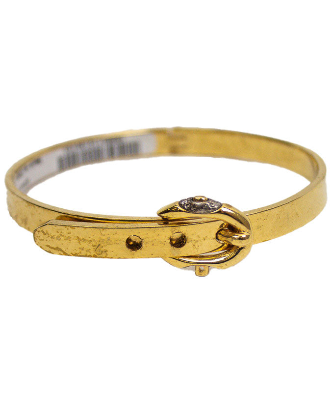 Gold-Toned Belt-Clasp Bangle Bracelet