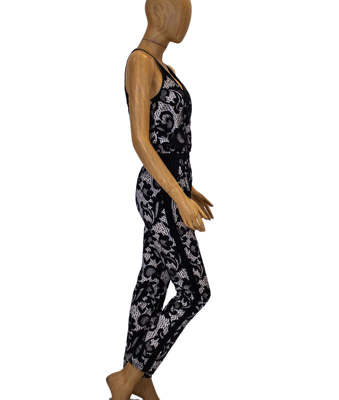"Black ""Shany"" Lace Jumpsuit"