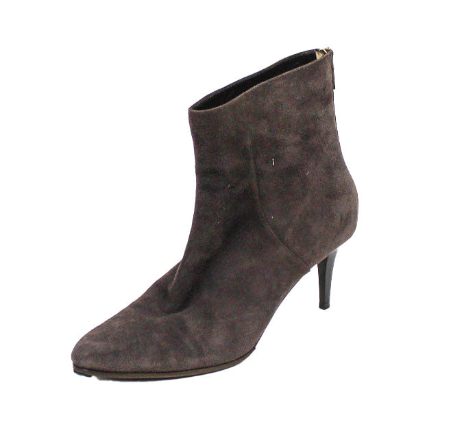 Suede Pointed Toe Ankle Boot