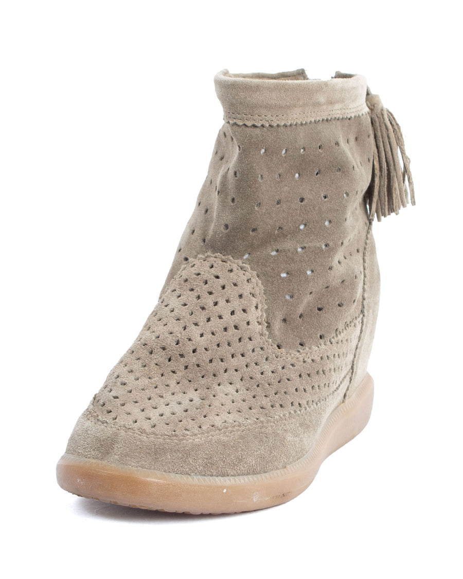 """Strainer Basket"" Perforated Ankle Boots"