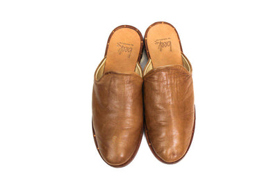 Beek Tan Leather Mules