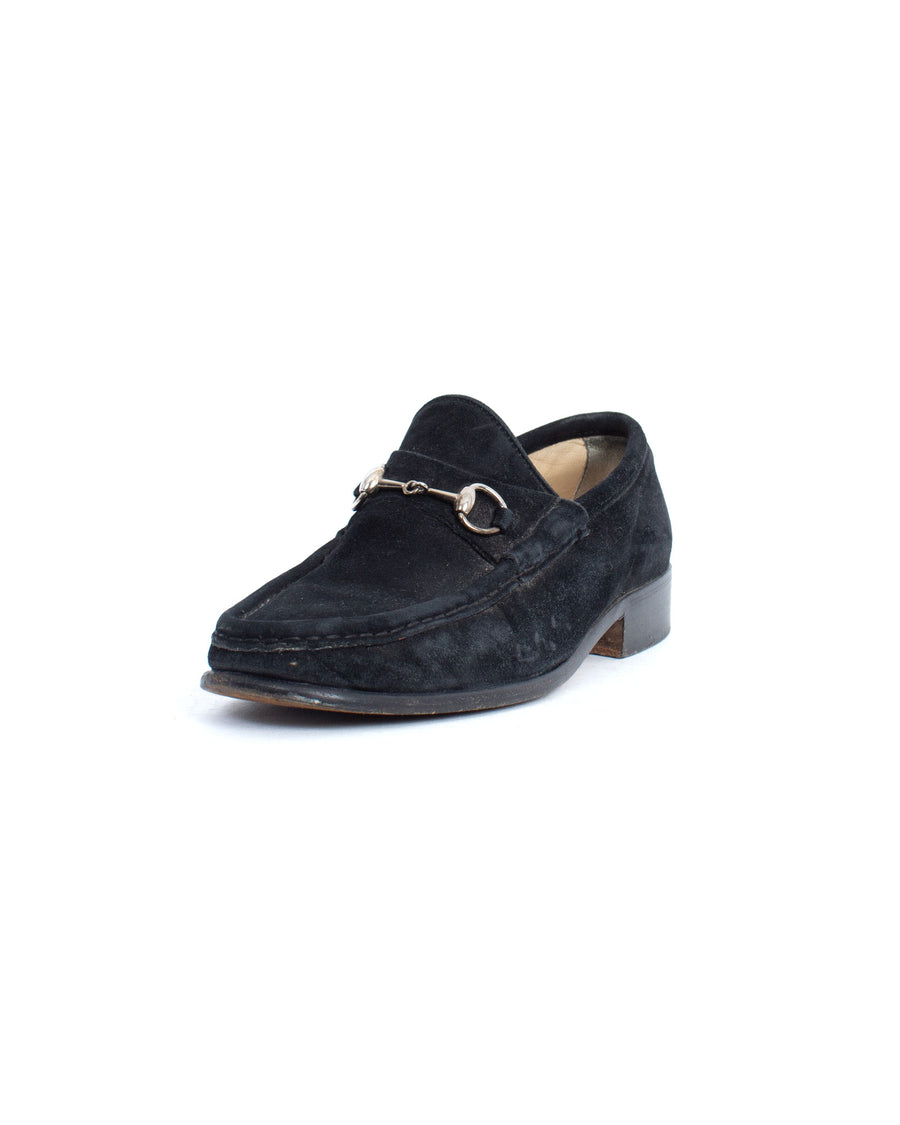 Suede Horsebit Loafers
