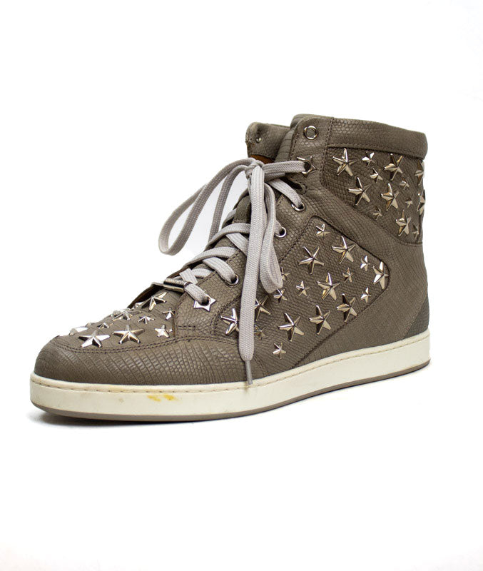 Star Embellished High Top Sneakers