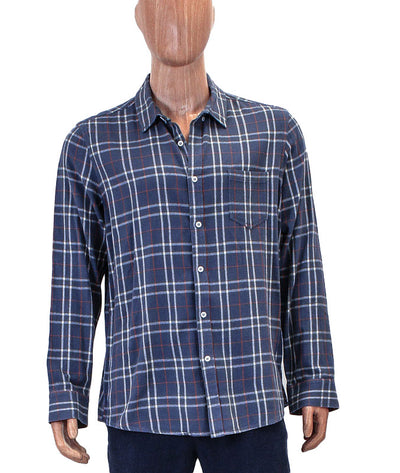 Flannel Front Pocket Button Down