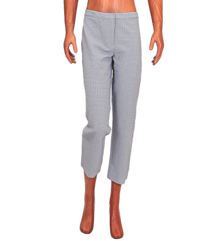 Cropped Plaid Straight Leg Trousers