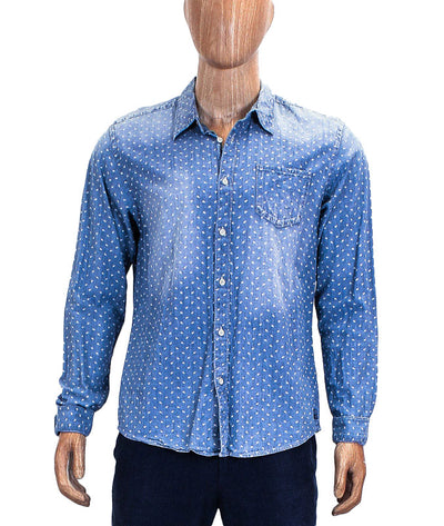 Printed Long Sleeve Button Down