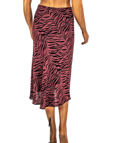 """Veda"" Tiger Print Skirt"