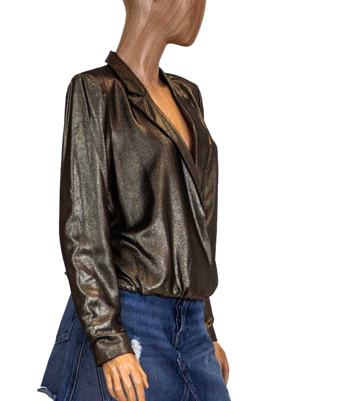 """Surplice"" Blazer Top"