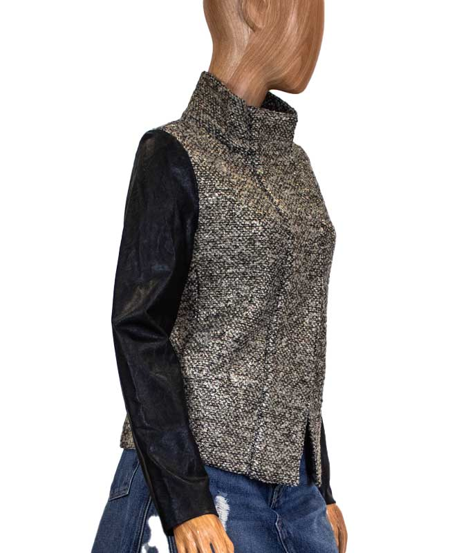 Metallic Wool Jacket