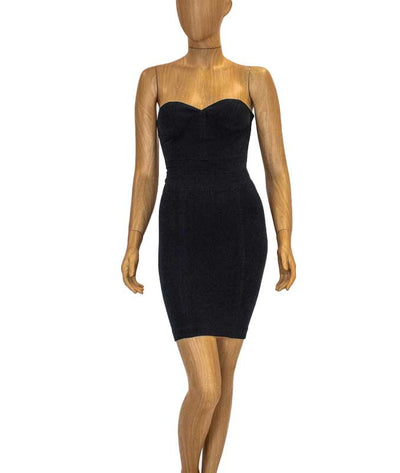 Structured Black Cocktail Dress