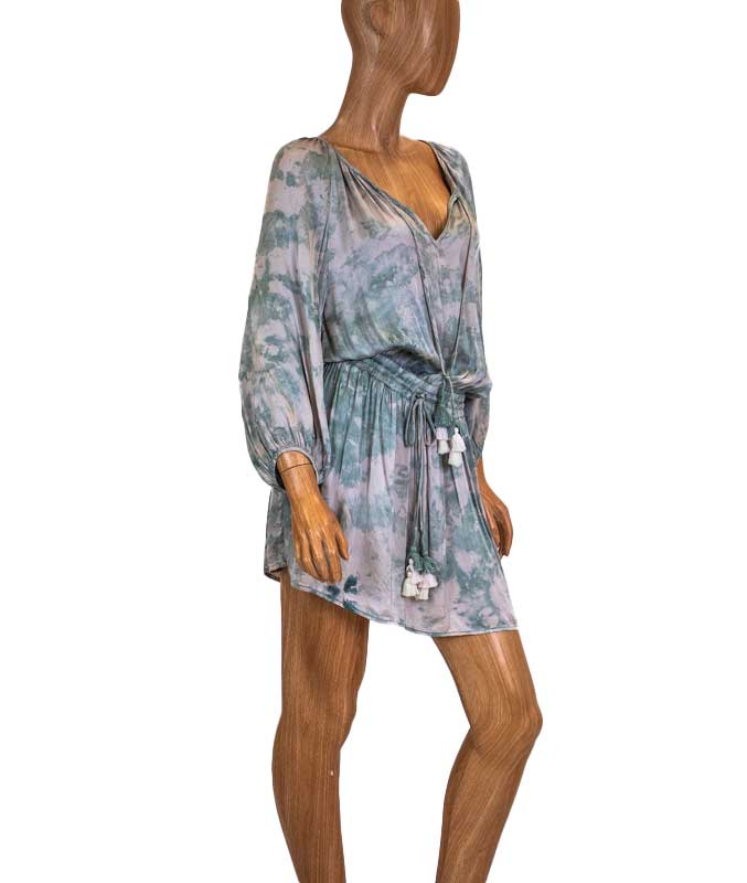 Tie Dye Drawstring Dress