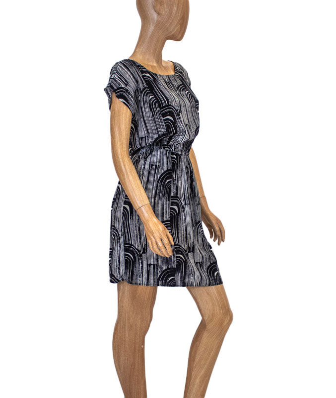 Silk Knee Length Dress With Pockets