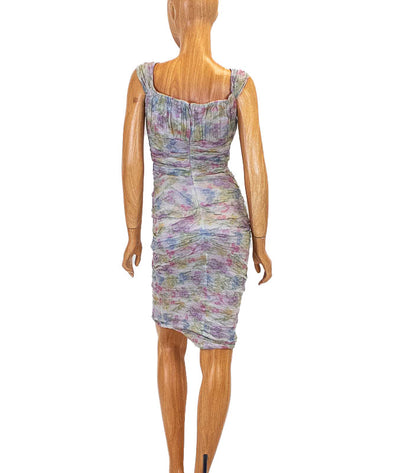 Watercolor Ruched Dress