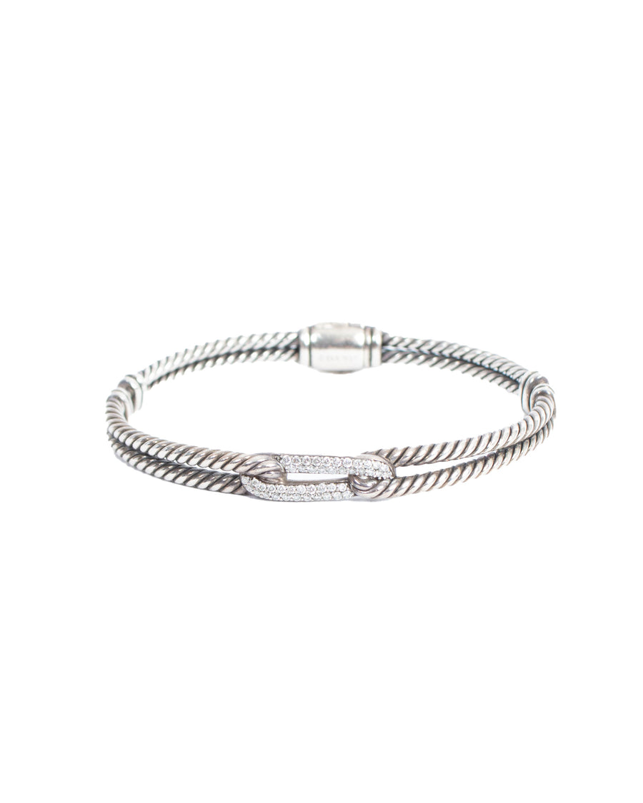 Diamond Link Station Cable Bracelet