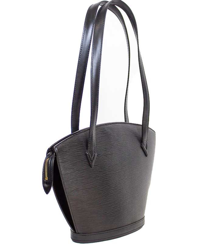 """Saint Jacques"" Black Leather Shoulder Bag"