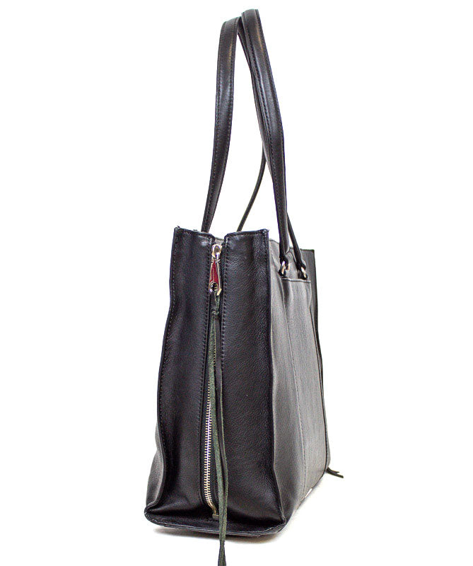 Leather Expandable Tote
