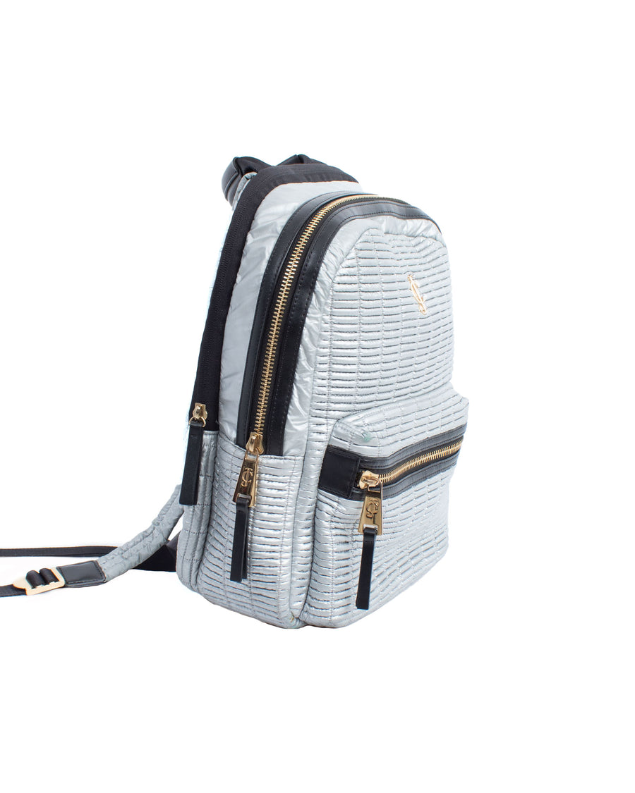 Silver Puffer Backpack