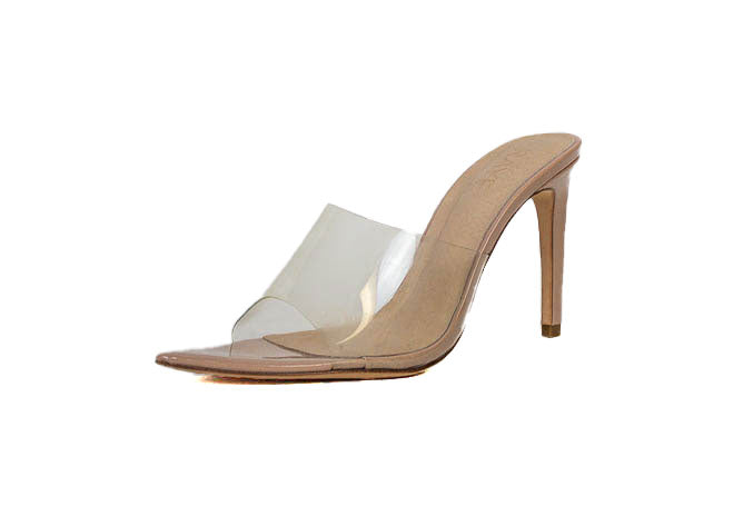 Clear Pointed Toe Mule