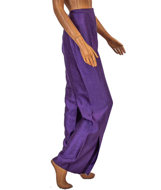 Purple Wide Leg Trousers