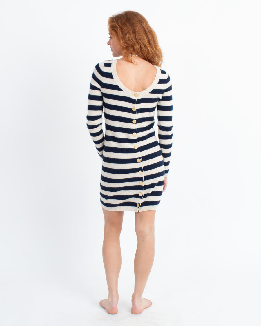 Striped Cashmere Dress