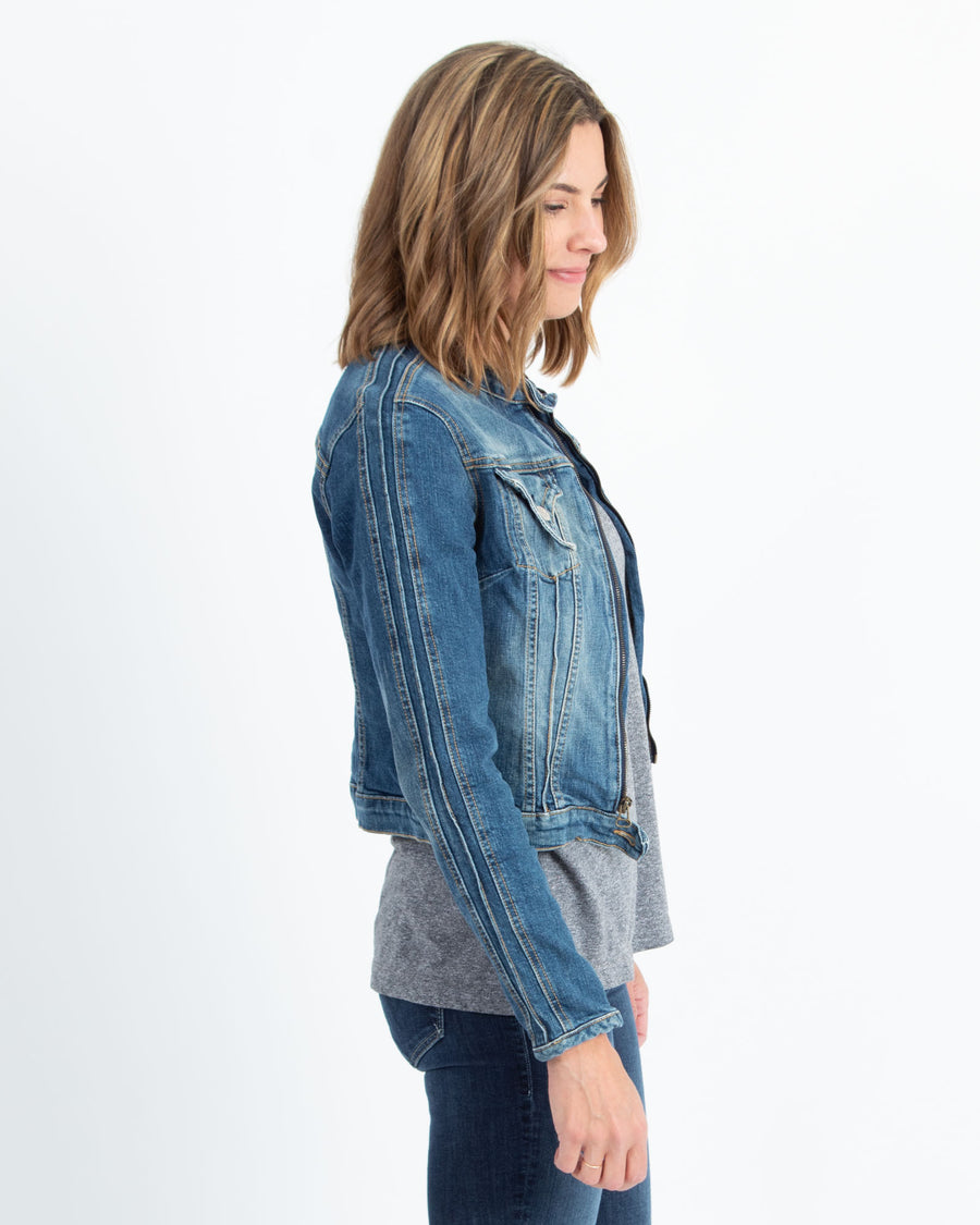 Zipper Denim Jacket