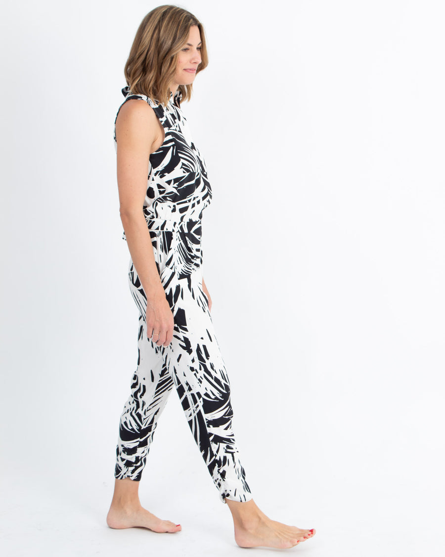 Sleeveless Printed Jumpsuit