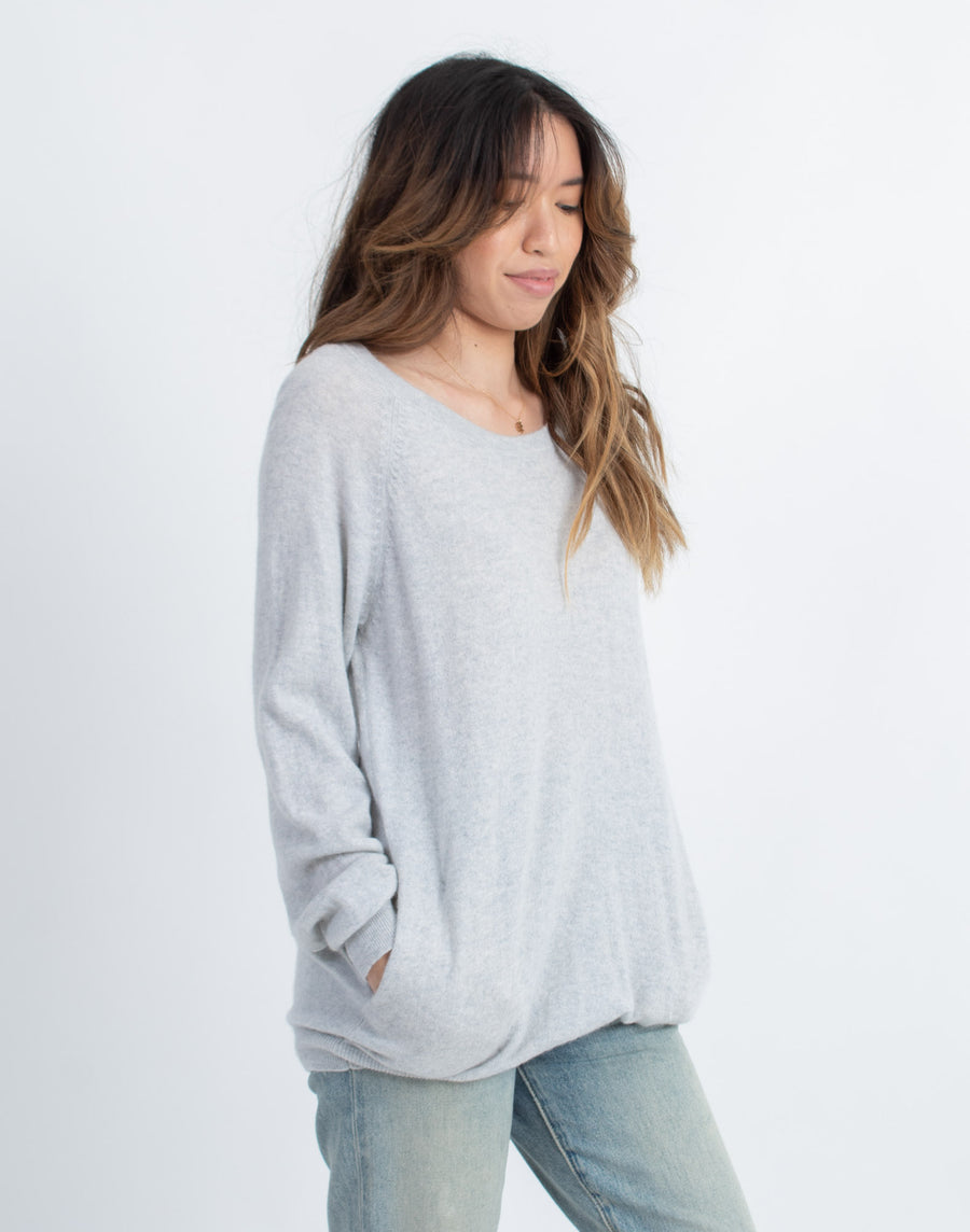 Slash Pocket Long Cashmere Sweater