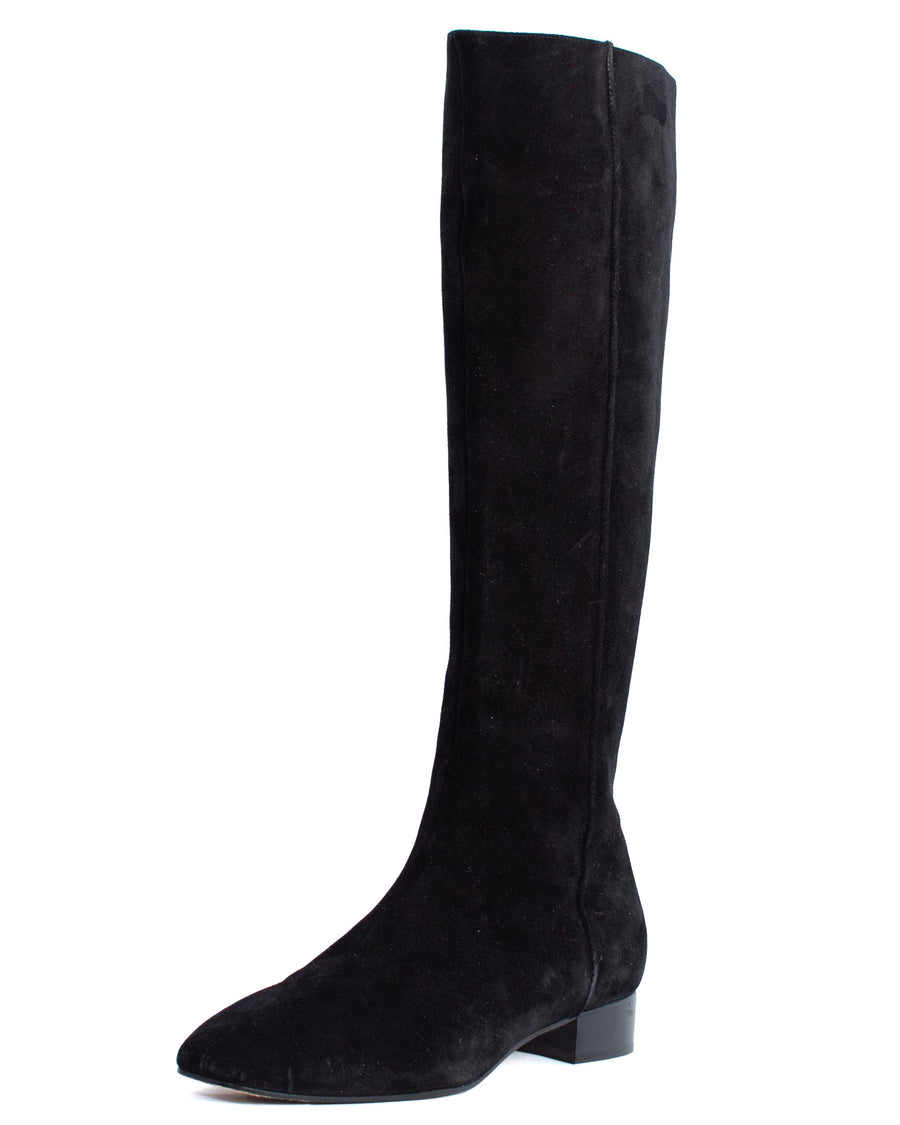 Black Suede Knee Boots