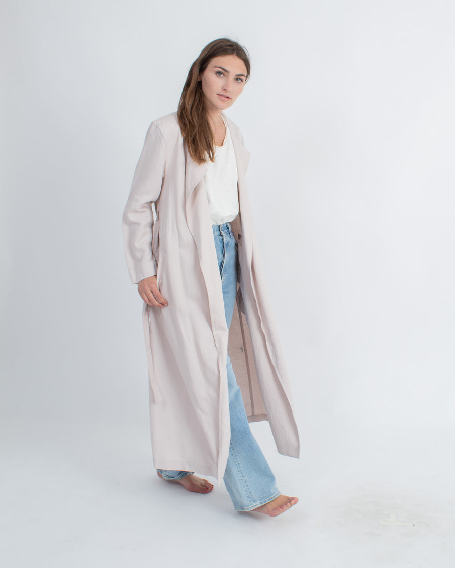 Lightweight Blush Trench Coat