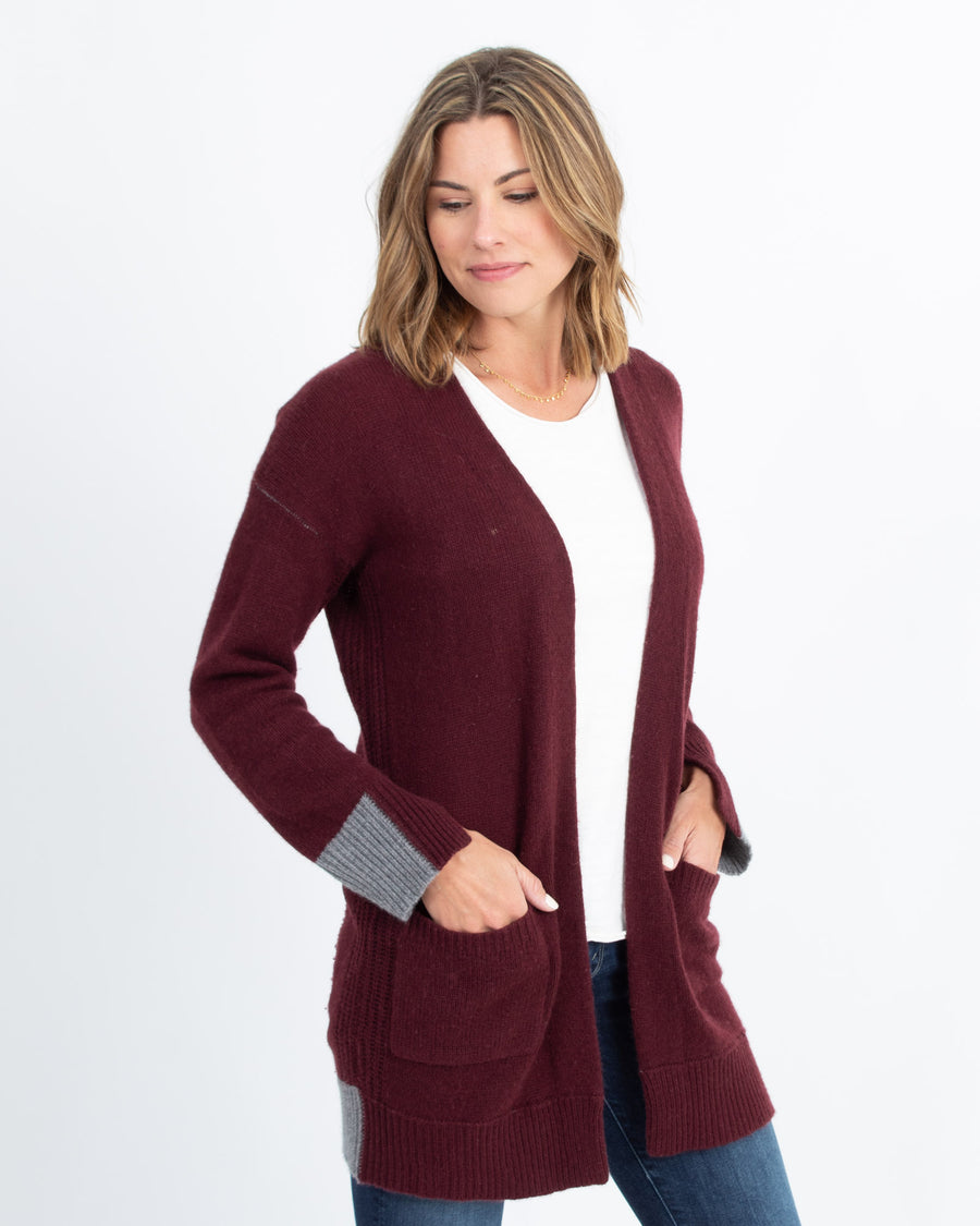 Two Toned Cashmere Cardigan