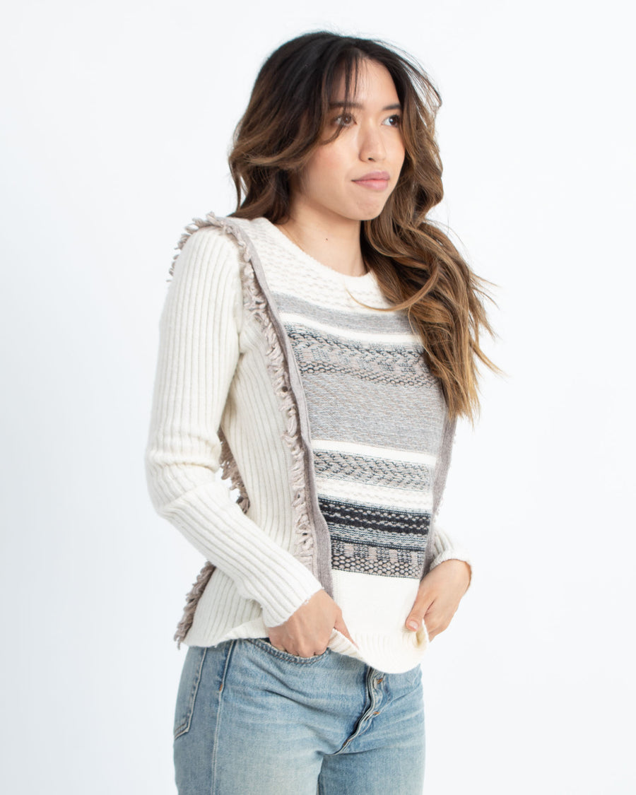 Embroidered Bib Sweater