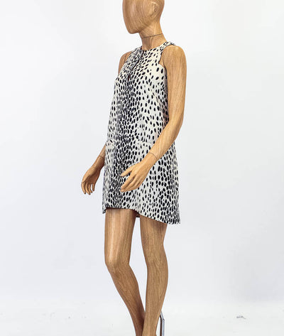 Printed Linen Cut Out Dress