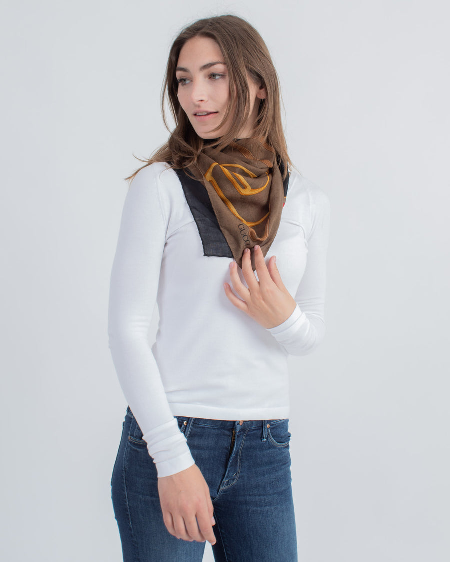 Printed Square Scarf