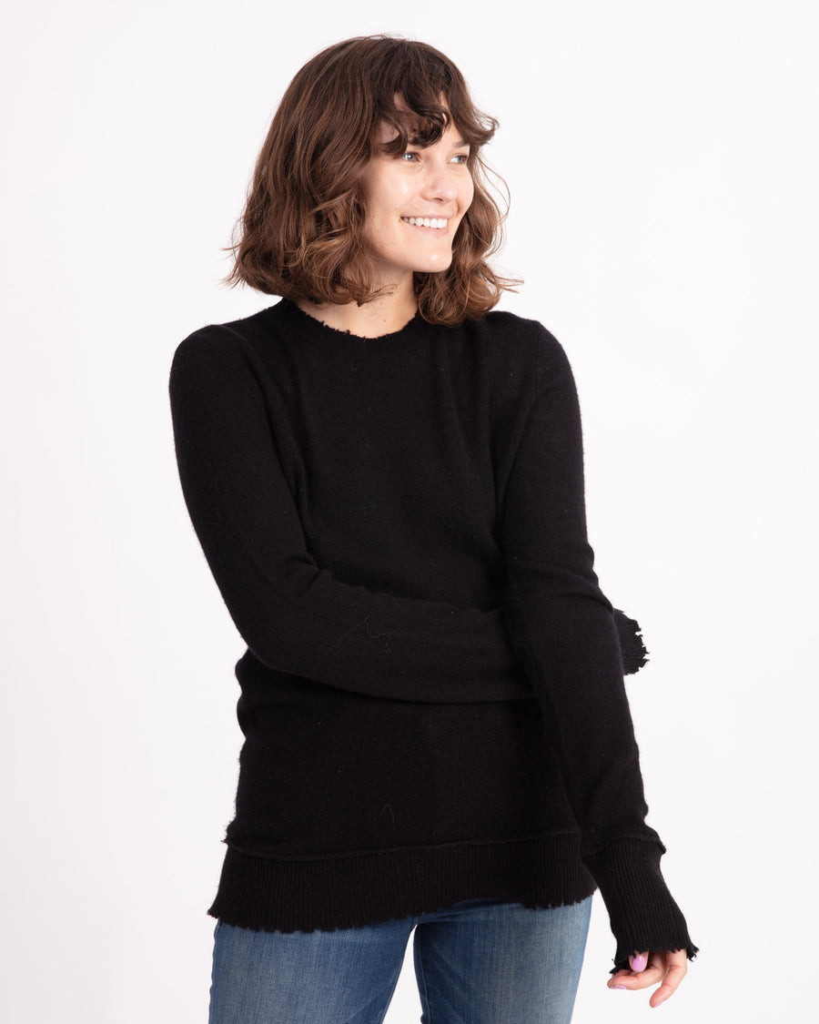 Black Cashmere Pullover Sweater